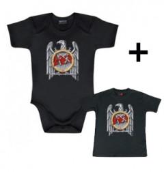 Idea regalo body bebè rock bambino Slayer Silver Eagle & Slayer t-shirt bebè