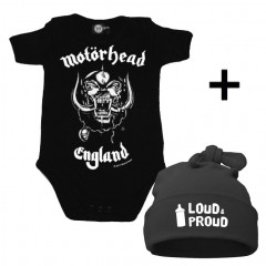 Idea regalo Body bebè Motörhead & Loud & Proud Cappello