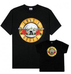 Duo Rockset t-shirt per papà Guns 'n Roses e Guns 'n Roses t-shirt bebè