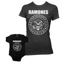 Duo Rockset t-shirt Ramones per la mamma e body Ramones per il bebè