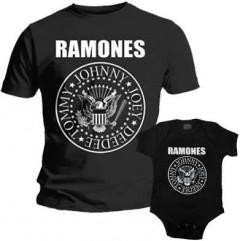 Duo Rockset t-shirt per papà Ramones e body bebè rock bambino Ramones