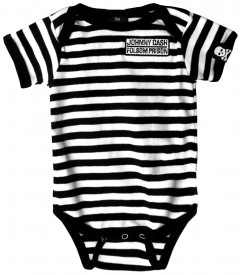 Johnny Cash Baby Romper Folsom Prison/Stripes