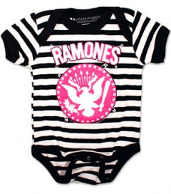 body bebè rock bambino Ramones Pinned