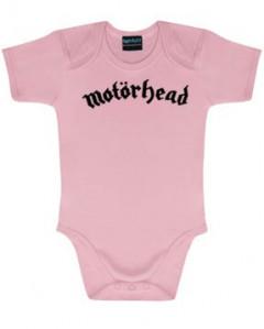 body bebè rock bambino Motörhead Logo Pink