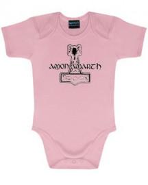 body bebè rock bambino Amon Amarth Logo Pink