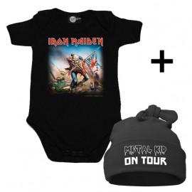 Idea regalo Body bebè Iron Maiden & Metal Kid on Tour Cappello