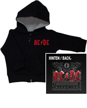 Maglia bebè con cerniera/cappuccio AC/DC Black Ice