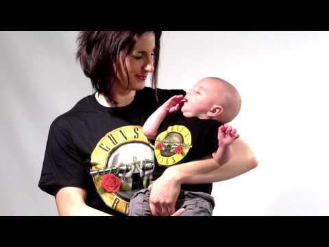 Duo Rockset t-shirt Guns N' Roses per la mamma e t-shirt bebè