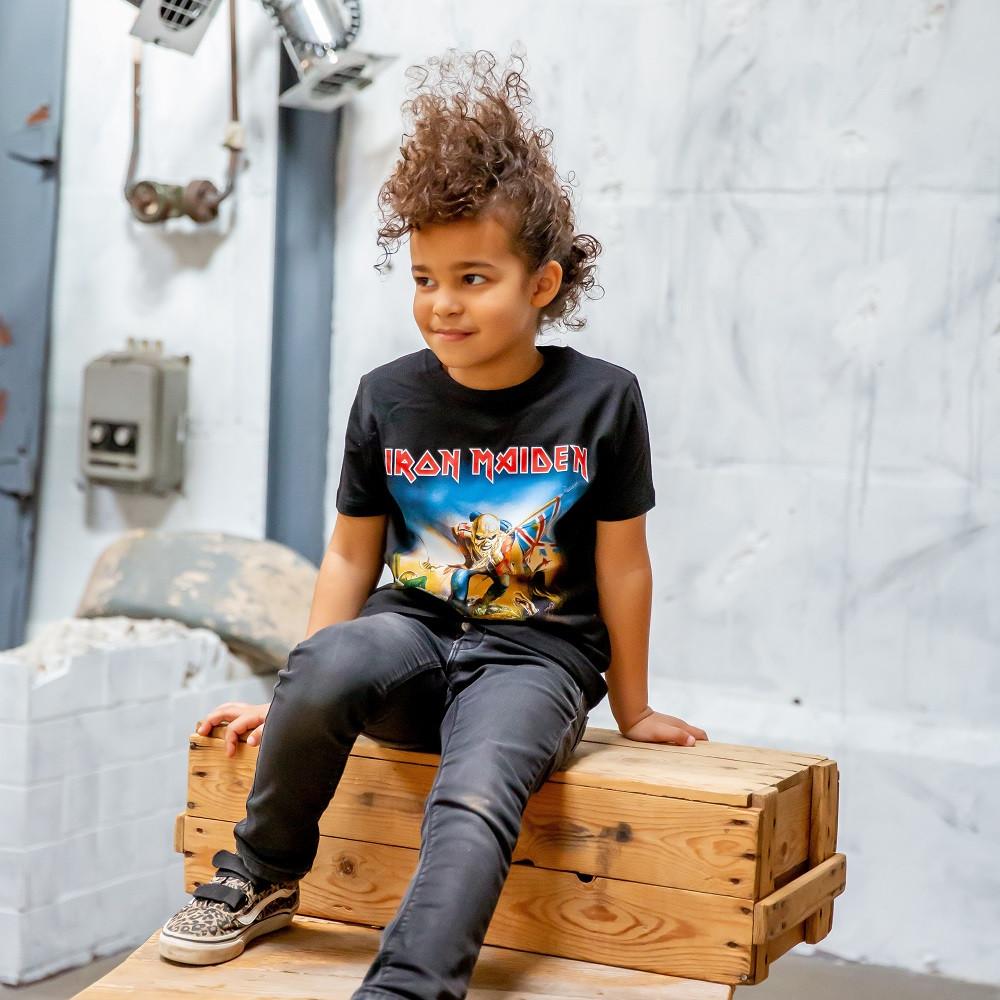 T-shirt bambini Iron Maiden Trooper fotoshoot