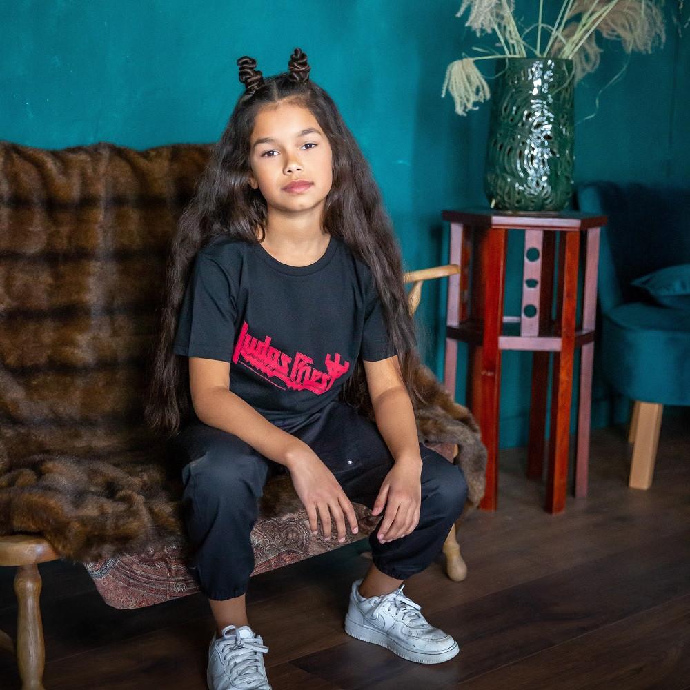 T-shirt bambini Judas Priest Logo fotoshoot
