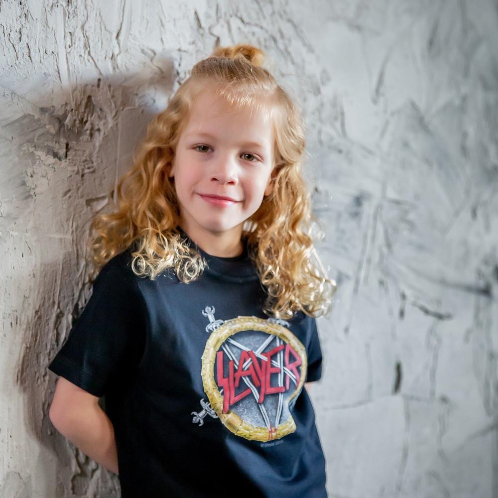 T-shirt bambini Slayer Pentagram Slayer fotoshoot