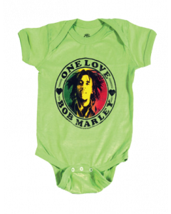 Body bebè Bob Marley One Love Lime