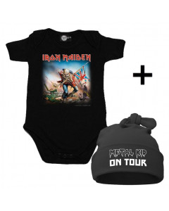 Idea regalo Body bebè Iron Maiden & Metal Kid on Tour Cappello