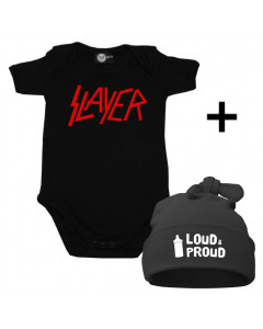 Idea regalo Body bebè Slayer & Loud & Proud Cappello