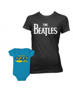 Duo Rockset t-shirt The Beatles per la mamma e body The Beatles Portholes per il bebè