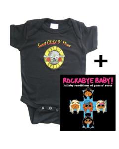 Idea regalo Body bebè Guns and Roses & Rockabye baby Guns and Roses