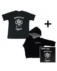 Idea regalo maglia bebè con cerniera/cappuccio Motörhead & Motörhead t-shirt bebè