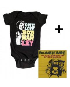Idea regalo Body bebè Bob Marley Smile & Rockabye Baby Bob Marley