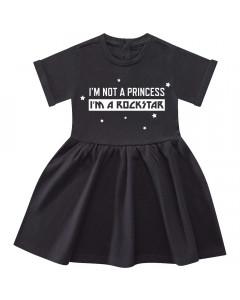 Maglietta per Bebe I'm not a princess I'm a rockstar