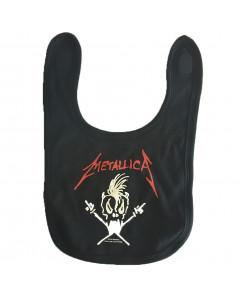 Bavaglino Metallica – Logo white