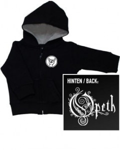 Maglia bebè con cerniera/cappuccio Opeth Logo (Print On Demand)