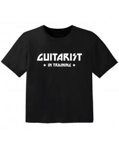 T-shirt Bambino Rock guitarist in training