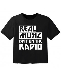 T-shirt Bambino Cool real music isnt on the radio