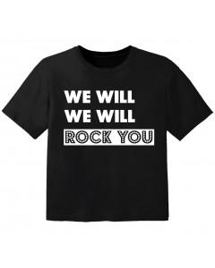 T-shirt Bambini Rock we will we will rock you