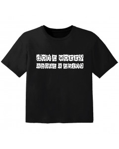 T-shirt Bambino Cool don't worry about a thing