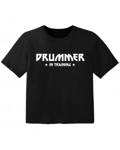 T-shirt Bambino Rock drummer in training