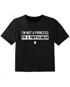 T-shirt Bambini I'm not a princess I'm a metalhead