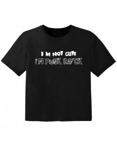 T-shirt Bambini Rock im not cute im punk rock