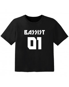 T-shirt Bambino Rock bassist 01